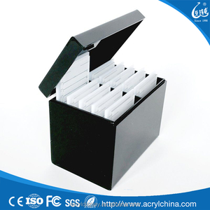 High quality gorgeous black colored acrylic lash box with five pallets