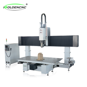 China professional 5 axis cnc router for wood mould,5 axes cnc milling machine 5 axis with best 5 axis cnc machine price