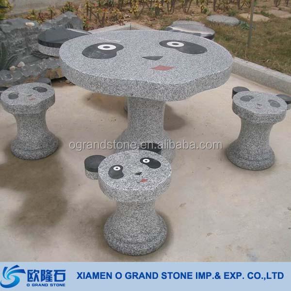 modern outdoor mesas y bancos de jardn de piedra