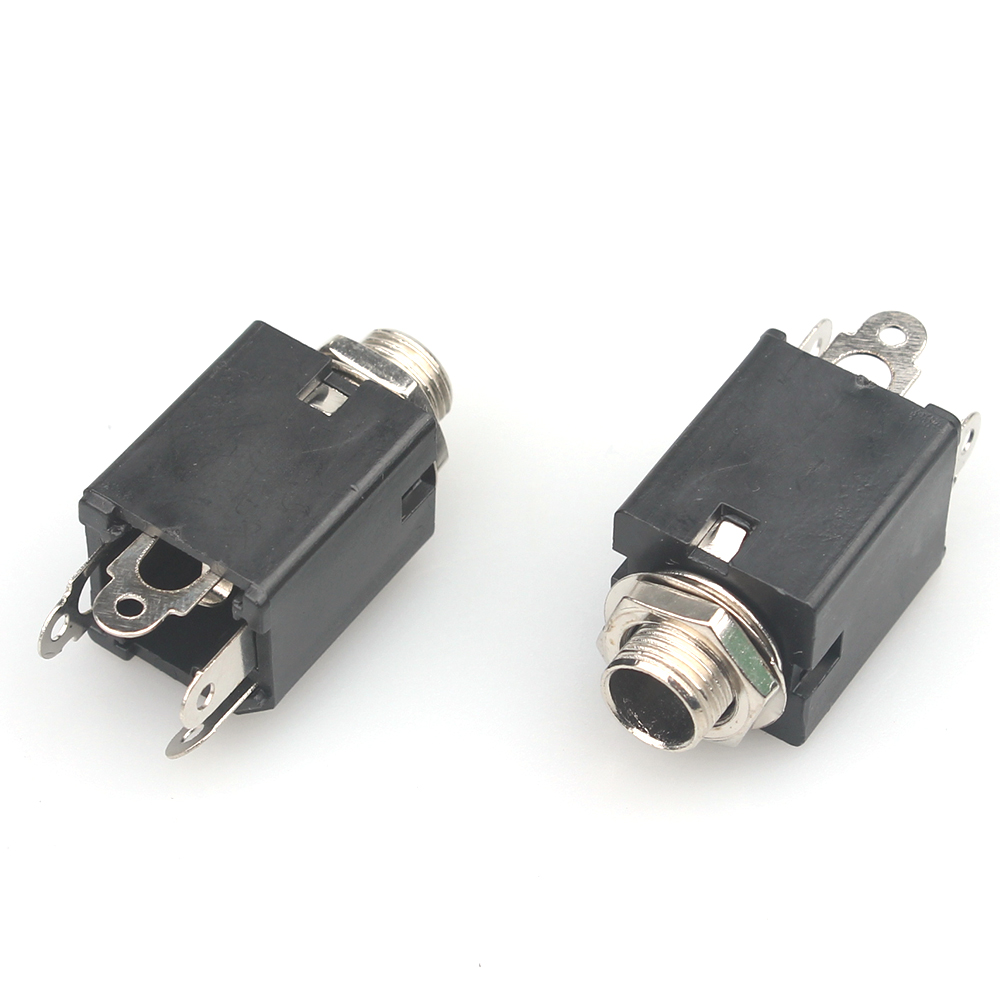 2X 5.5*2.5mm DC Power Jack Plug Socket Female Panel Mounts Connectors BH