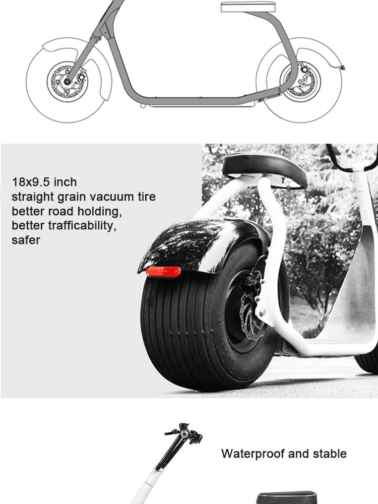 1000w 60v Fat Tire Electric Scooter For Adult Buy Fat