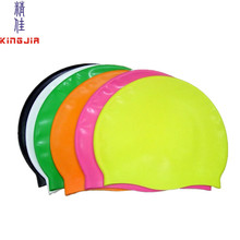 custom logo adult kid size silicone swim cap,professional silicone swimming cap manufacturer