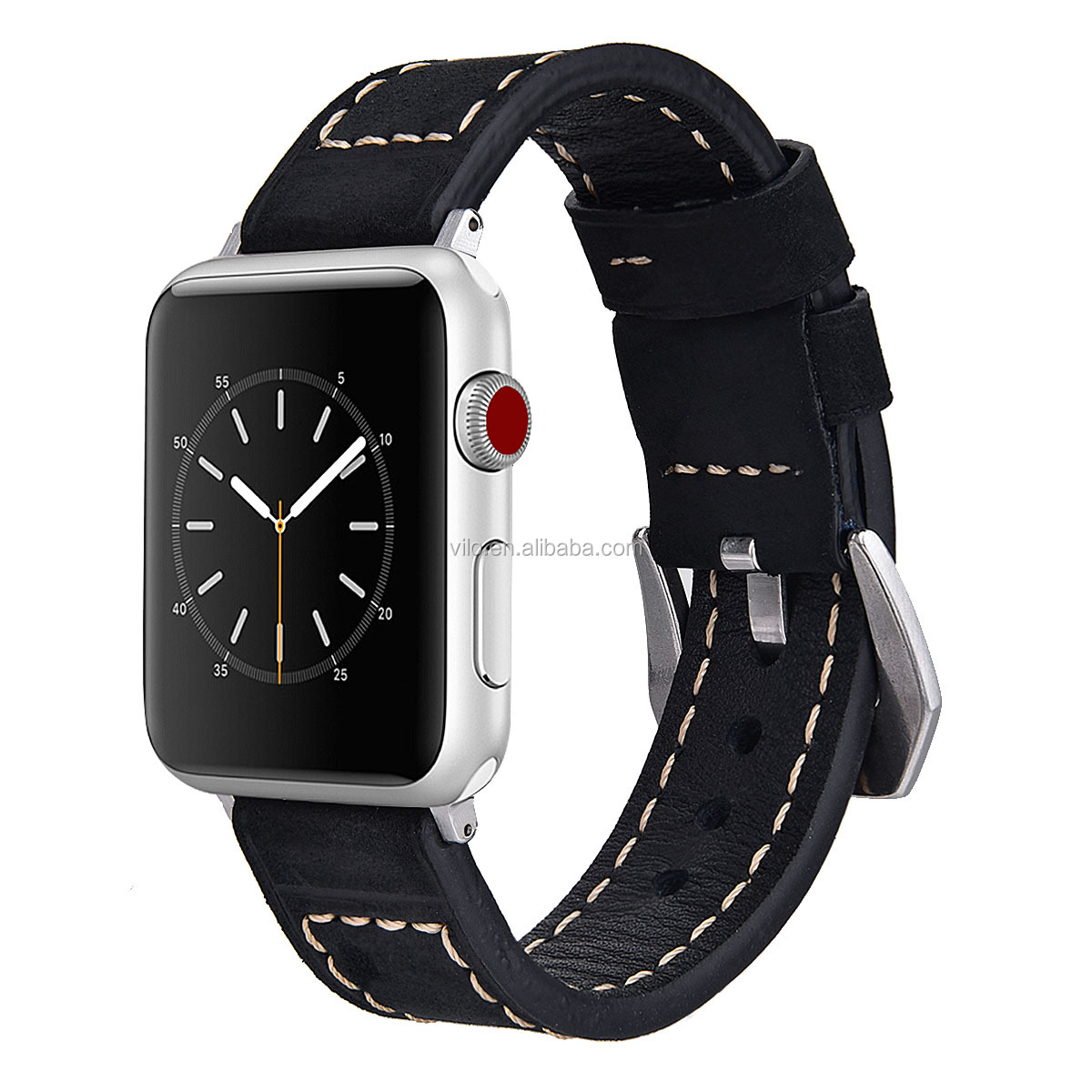 High quality Leather strap watch band for apple watch series 1/2/3/4/5 genuine leather watch band 38mm 40mm 42mm 44mm