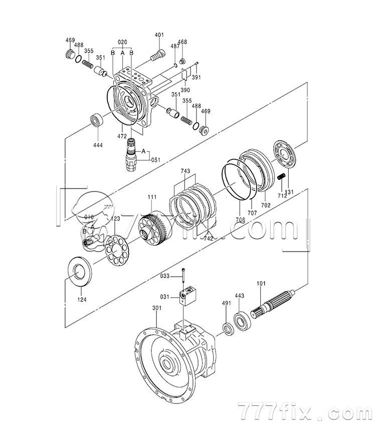 M2x170 Hydraulic Motor Unitparts