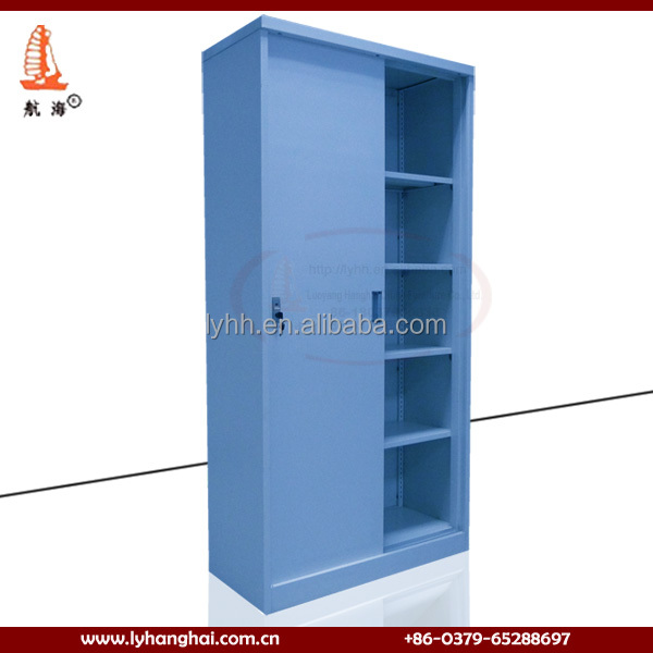 Metal Material Custom Household Furniture 4 Tier Sliding Door Cupboards