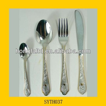 Flatware set with stand buy flatware set with stand animal flatware set gold plated flatware - Flatware set with stand ...