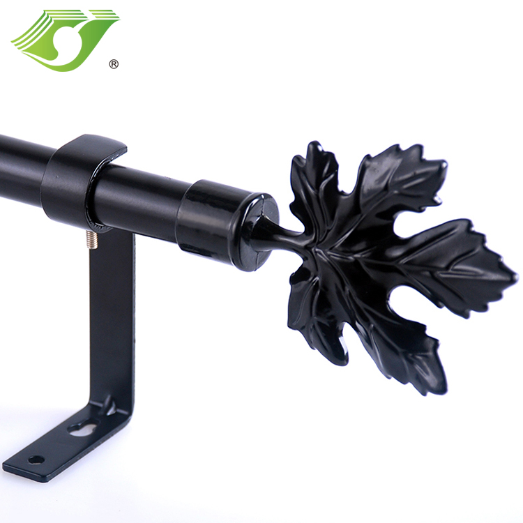 High Quality Metal Curtain Rod home decoration Fancy Curtain rod end and caps