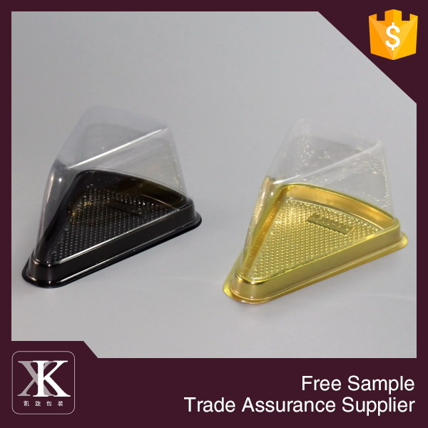 Food Grade Triangle Shape Plastic Cake Box For Cake <strong>Packing</strong>