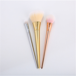 Factory fashion hot sell 3pcs make up brushes professional colorful makeup brush set