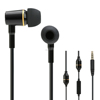 Ibrain FC12 China export black metal radiation proof handsfree earphones with volume control for used electronics