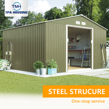 The Most Popular Light Gauge Steel Structure Construction Prefab Single 1 One Single Car Metal Garage Kits