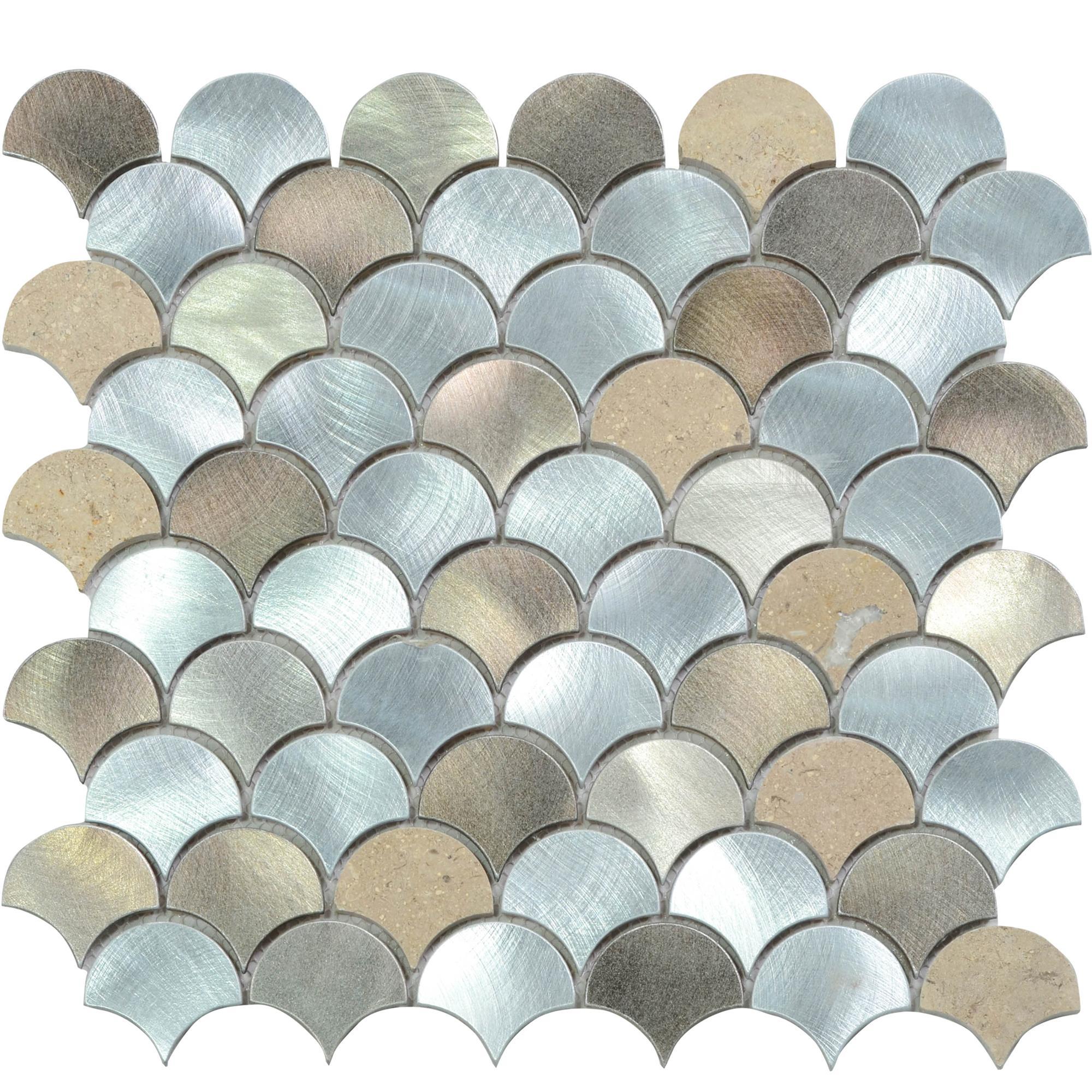 Bathroom Stainless Steel 2 Inch Fish Backsplash Mosaic Tiles Lowes Dubai Tile Product On