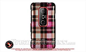 Dream Wireless CAHTCEVO3DHPCK Slim and Stylish Design Case for HTC Evo 3D - Retail Packaging - Hot Pink Checker