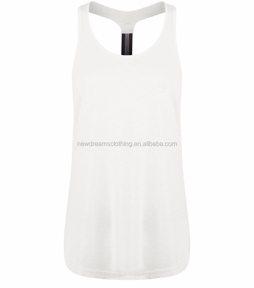 80f0a839f0f4aa High Quality New Plain White Cami Tank Tee Oem Singlet Top Women ...