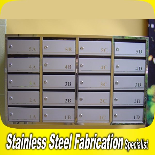 Stainless Steel Mailbox Post Box Letter Box Apartment Lock Boxes ...