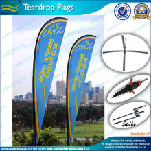 2016 china manufacturer custom flying style teardrop flag
