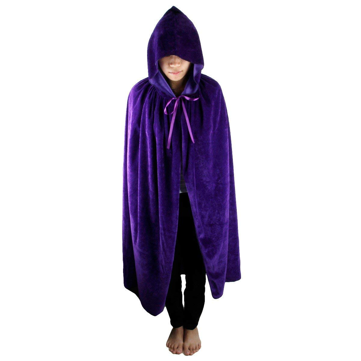 Samtree Christmas Halloween Costumes Cape for Kids,Velvet Hooded Cosplay Party Cloak