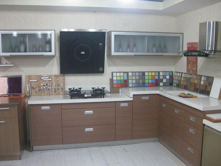 oem modular kitchen latest design for melamine cabinet
