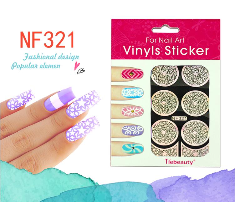 2016 Fashion Nail Stickers For Girls Hollow Vinyls Stencil Nail Art ...