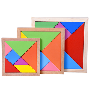 Toys For Kids 2019 OEM Custom Education Toy Wooden Toy Wooden Tangram Puzzle