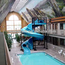 Spiral enclosed slide The club swimming pool slide