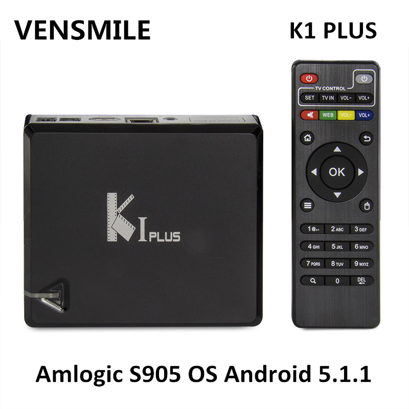 Vensmile K1 PLUS Smart <strong>tv</strong> <strong>box</strong> 3G USB <strong>dongle</strong> Amlogic S905 Android 5.1.1 <strong>tv</strong> <strong>box</strong> K1 PLUS android quad core <strong>tv</strong> <strong>box</strong> 4k