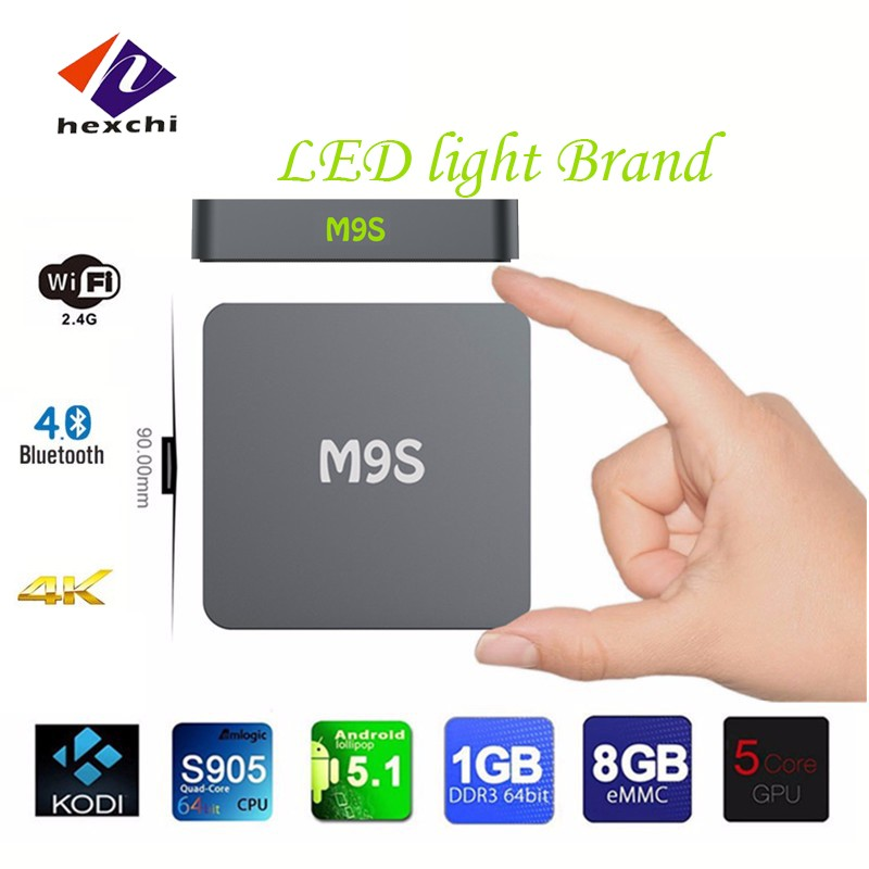 digital tv converter box M9S 1080p android tv box dvb t2 M9S mini m8s2 s905x android tv box M9S