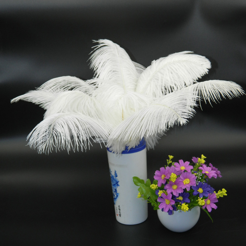 synthetic bulk 50-55cm white ostrich feather for decoration
