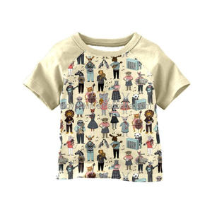 Unique baby boys cute pictures printed raglan tunics children's boutique clothing tops