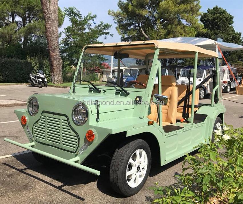 13 5hp 70s Style Moke Electrische E Mini 10kw Beach Car Seaside Cabrio Electric Morris Eec