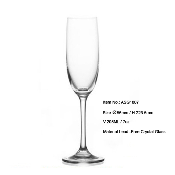 Asg1806 small volume long stem glass champagne flutes in 170ml 6oz hot sale - Petite flute a champagne ...