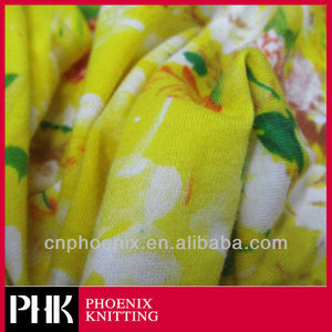 COMBED COTTON ELASTANE CHINTZ KNITTED FABRIC