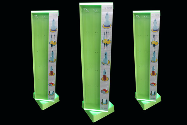 4-side Lighted Wireless Store Acrylic Pegboard Display Stand Phone ...