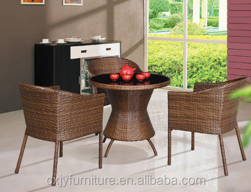 Woven Bistro Chairs/ Wicker Dining Table Set/ Rattan French Bistro Chairs