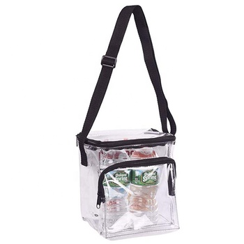 Waterproof clearCooler box zipper shoulder bags pvc Lunch bag