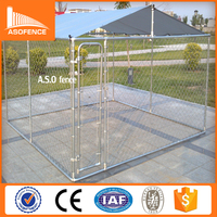 Cheap 10x10x6 foot classic galvanized outdoor dog run kennels