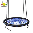 Hot 100cm garden rope tree nest webbing round swing for children