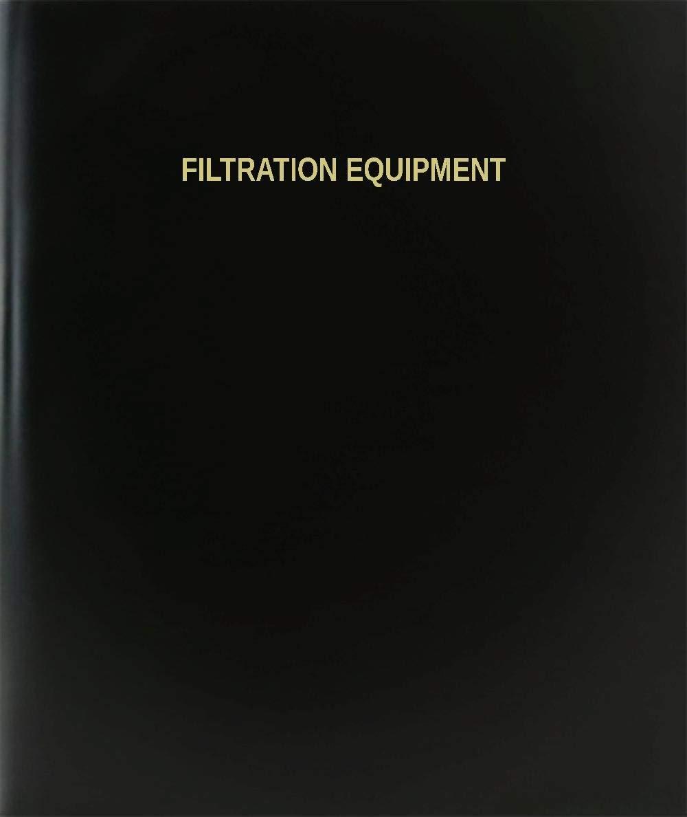 "BookFactory Filtration Equipment Log Book / Journal / Logbook - 120 Page, 8.5""x11"", Black Hardbound (XLog-120-7CS-A-L-Black(Filtration Equipment Log Book))"
