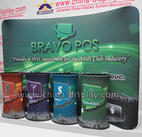 Trade show backdrop fabric tension display banner portable exhibition stands