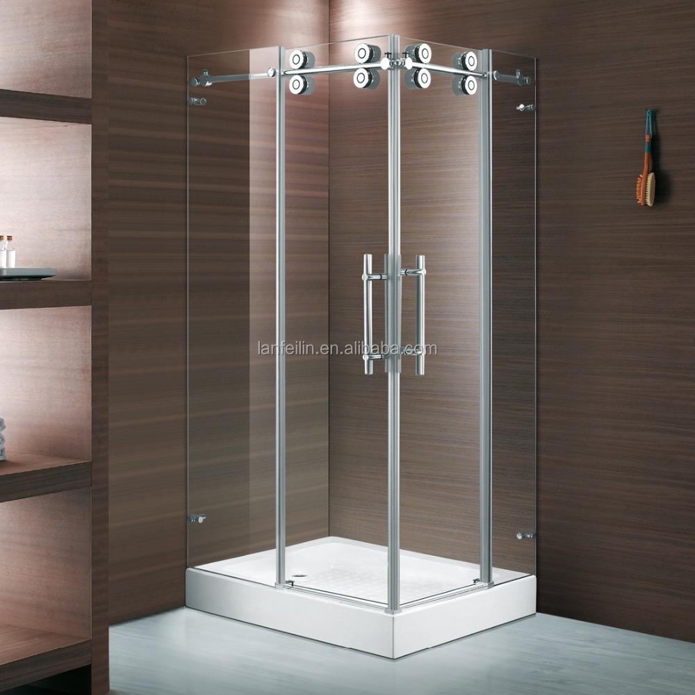 E04c Luxury Corner Sliding Door Shower Box With Sus304 Top Rail ...