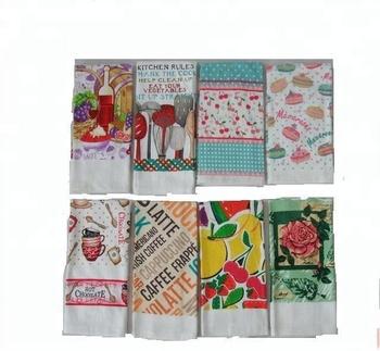 Eu Design Cotton Printed Kitchen Tea Towel Fabric Wholesale Cotton Towel -  Buy Cotton Kitchen Towel,Print Kitchen Towel,100 Cotton Towels Product on  ...