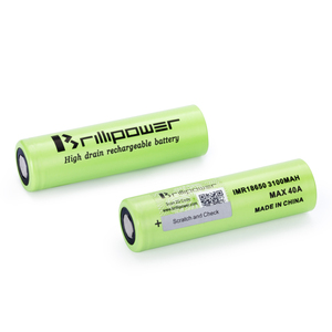 High discharge brillipower 18650 batteries 3100mah 40a 3.7v lion great power battery