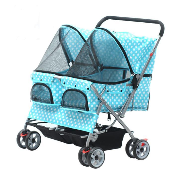 Folding Pet Trolley Pet Dog Outdoor Walking Stroller For Twins Pets - Buy  Twins Pet Stroller,Pet Stroller,Dog Trolley Product on Alibaba com