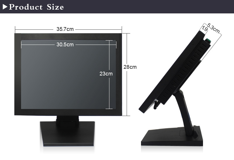"""15"""" Industrial All In One Panel Pc Monitor Lcd Led Backlight High ..."""