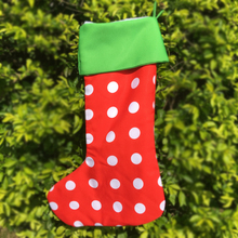 DOMIL New Arrival Wholesale Christmas Stocking With Snow White Soft Fleece Inside Christmas Decoration