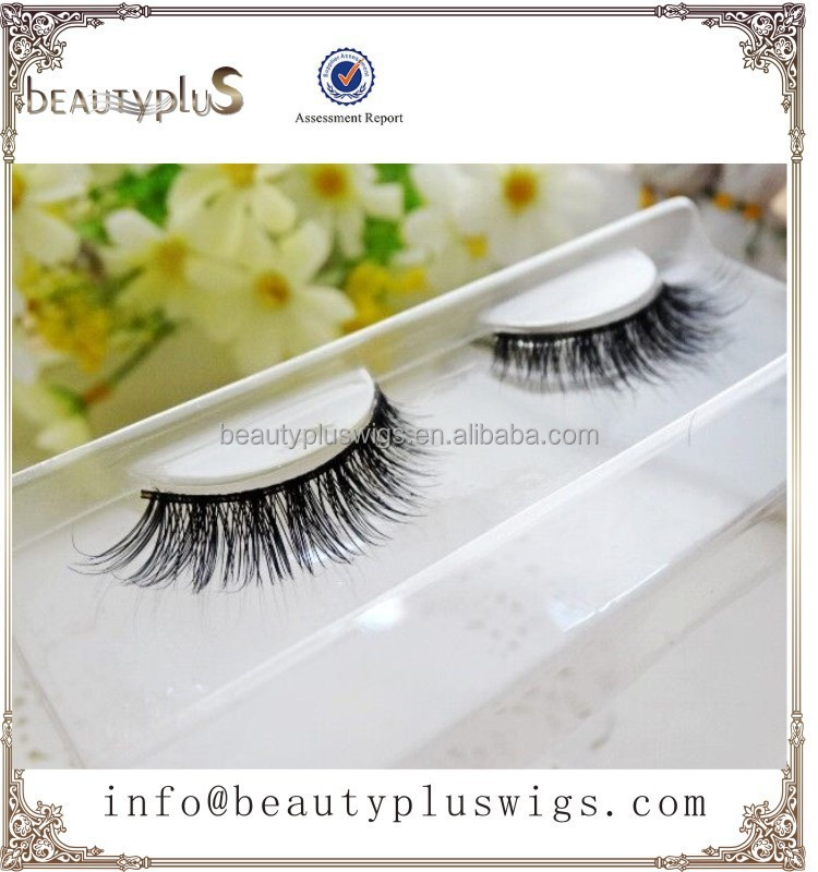 Premium quality siberian mink fur strip lashes with OEM box
