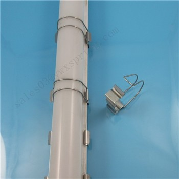 ISO9001 Stainless steel Down light led tube light pole clamp