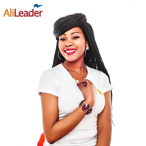 AliLeader Crochet Box Braids 12-30 inch Short Medium Long Size Synthetic Crochet Box Braids Hair Extension