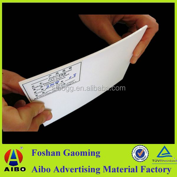 pvc foamed sheets 2mm pvc foam board with screen printing for Construction signs