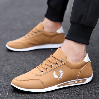 cheap custom logo leather sport shoes